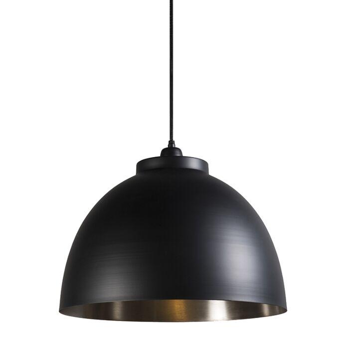Lámpara-colgante-HOODI-negra-níquel