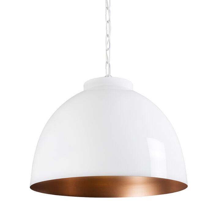 Lámpara-colgante-HOODI-XL-blanco-cobre