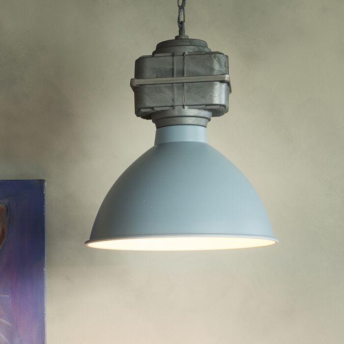 Lámpara-colgante-SICKO-pequeña-azul-grisáceo