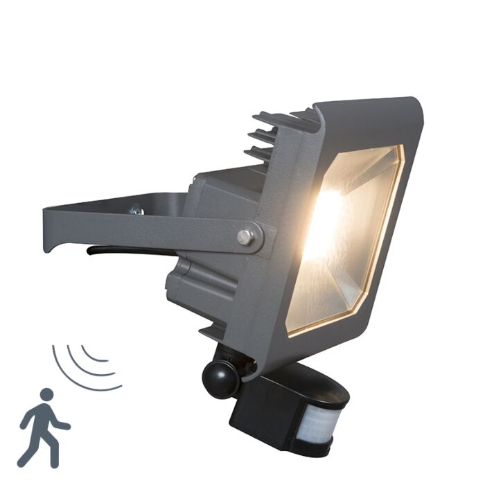 Proyector-LED-RADIUS-2-50W-gris-oscuro-con-sensor-de-movimiento-PIR