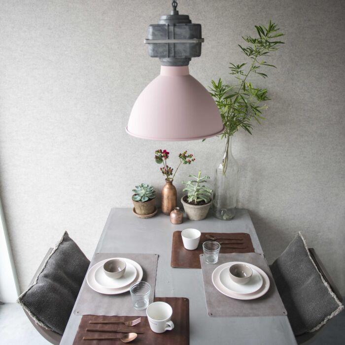 Lámpara-colgante-industrial-pequeña-rosa-mate---SICKO