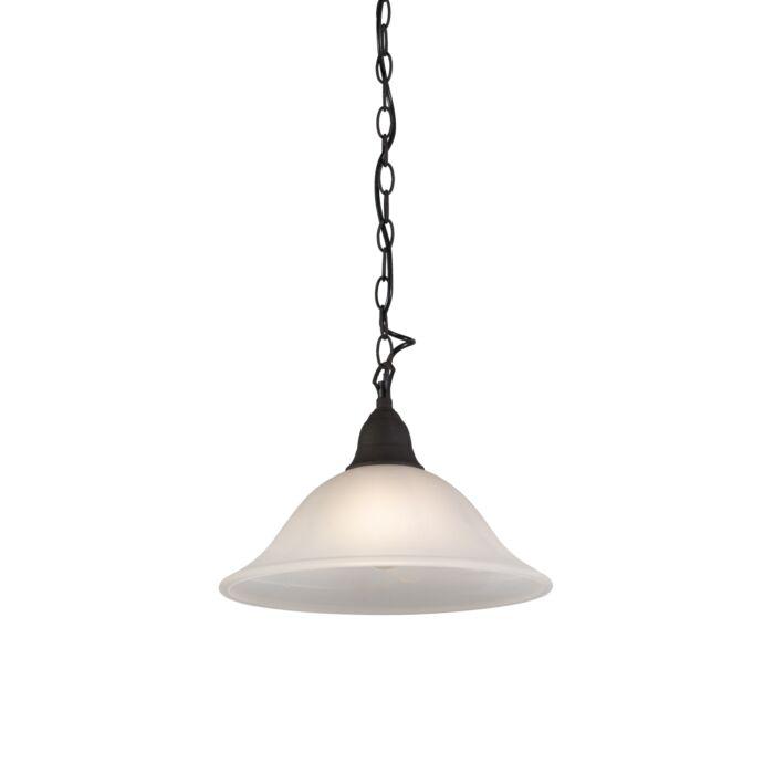 Lámpara-colgante-rústica-vidrio-marrón---DALLAS-1