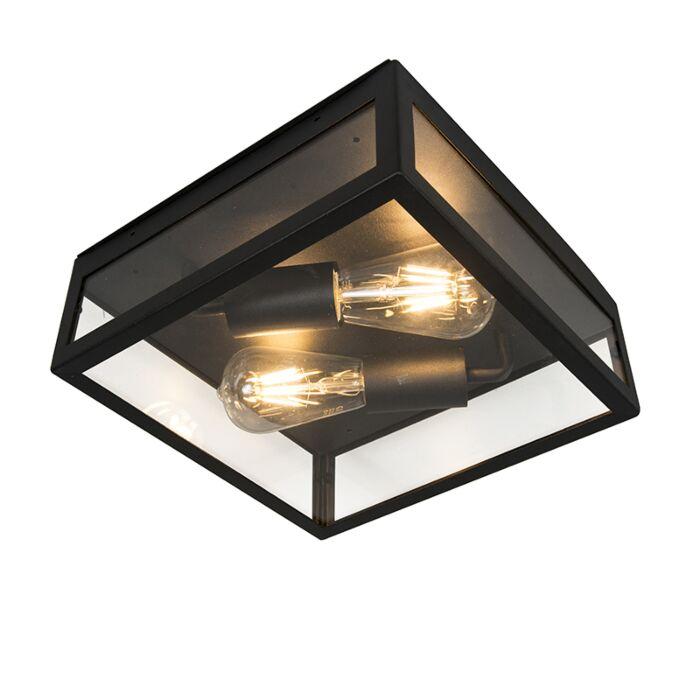 Plafón-industrial-negro-2-luces---ROTTERDAM