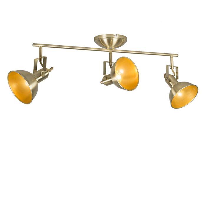 Plafón-dorado/latón-orientable-3-luces---TOMMY