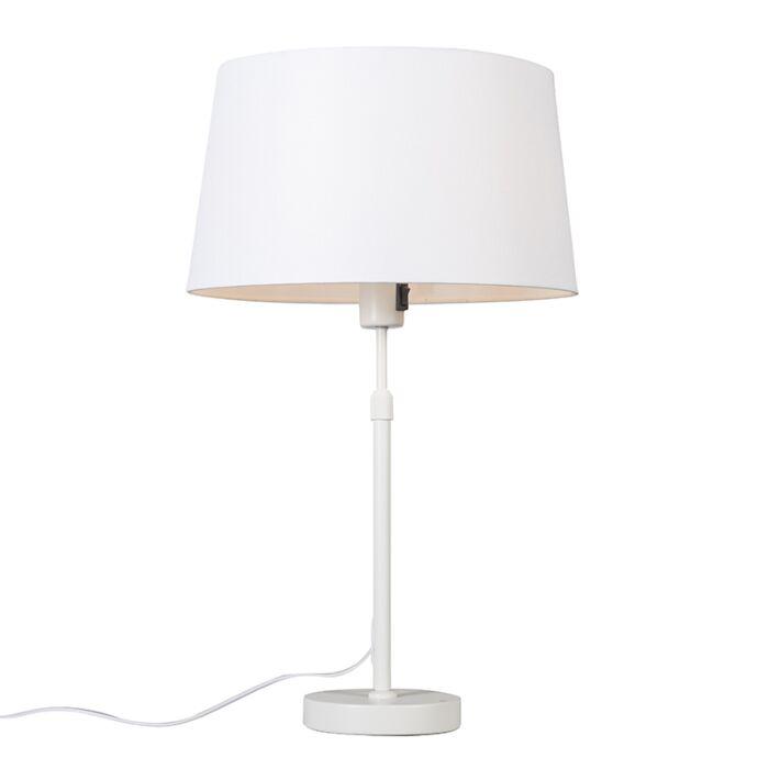 Lámpara-de-mesa-blanca-pantalla-blanca-35cm-ajustable---PARTE