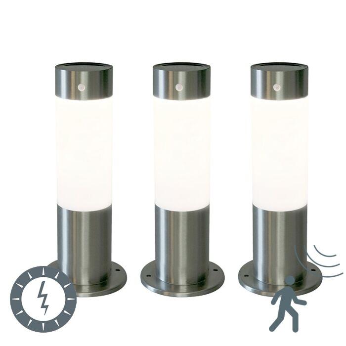 Set-de-3-balizas-ROX-30-acero-solar