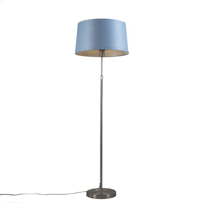 Lámpara-de-pie-acero-con-pantalla-azul-45-cm-ajustable---Parte