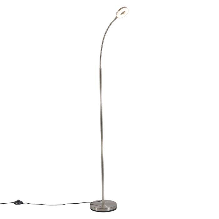 Lámpara-de-pie-moderna-brazo-flexible-acero-LED---CRACH
