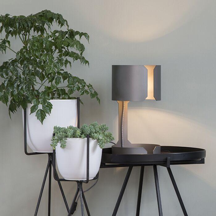 Lámpara-mesa-diseño-acero-mate---WALTZ