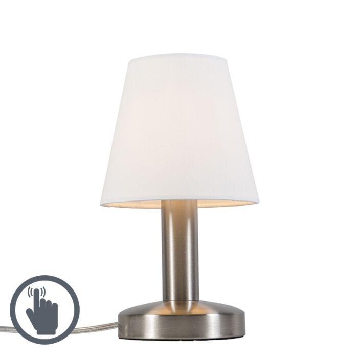 Lámpara-de-mesa-moderna-táctil-blanca---BELLO