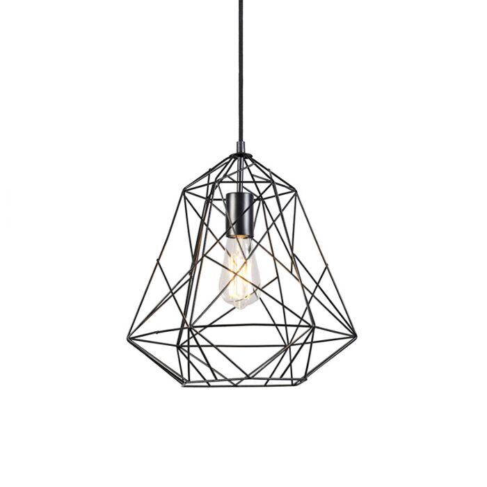Lámpara-colgante-industrial-negra---FRAMEWORK-Basic