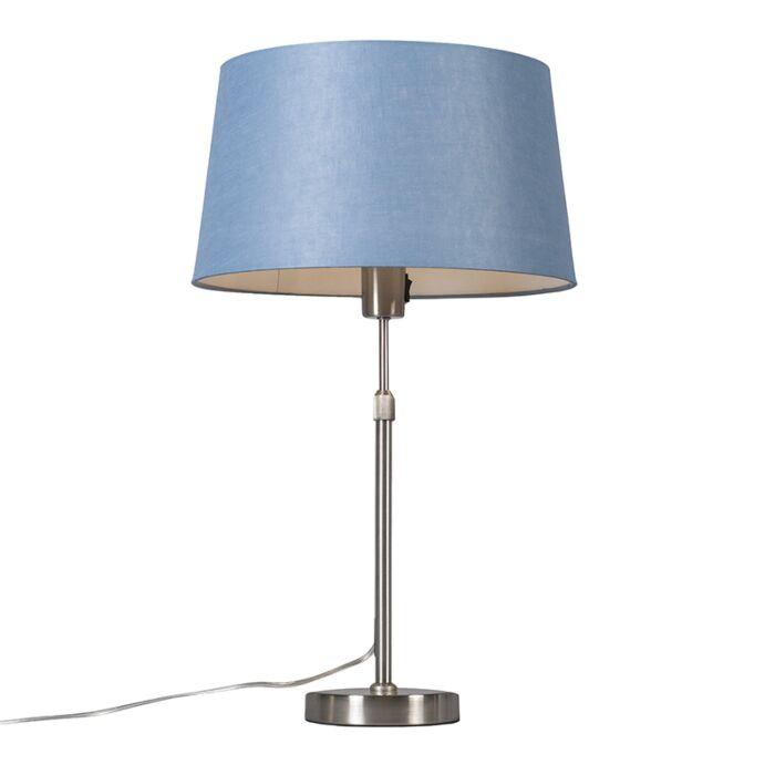 Lámpara-de-mesa-acero-con-pantalla-azul-35-cm-ajustable---Parte