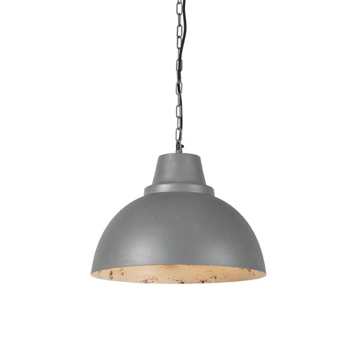 Lámpara-colgante-FALCON-gris-con-el-interior-en-blanco