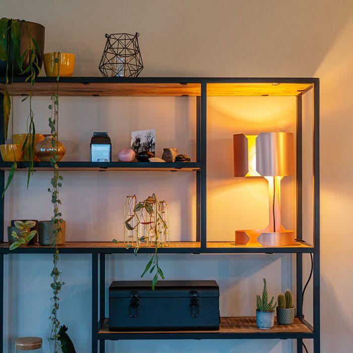 Lámpara-mesa-diseño-cobre-mate---WALTZ