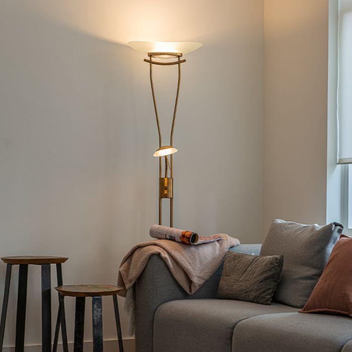Uplighter-moderno-bronce-LED-regulador---LEXUS