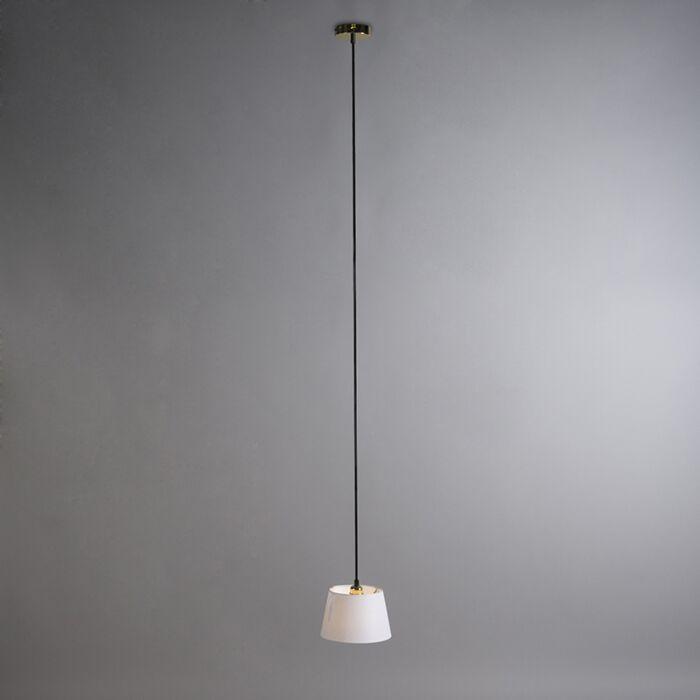 Lámpara-colgante-CAVA-1-oro-con-pantalla-blanca