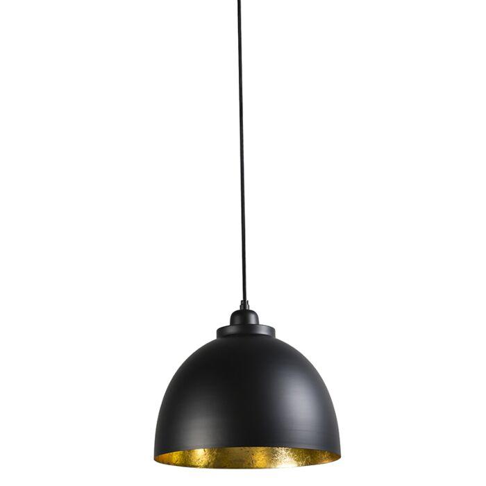 Lámpara-colgante-HOODI-pequeña-negra-oro