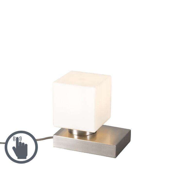 Lámpara-de-mesa-STOL-acero-cuadrado-táctil