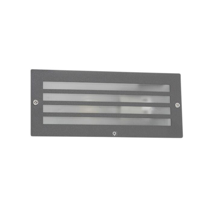 Foco-empotrado-moderno-gris-oscuro-IP44---HURRICANE