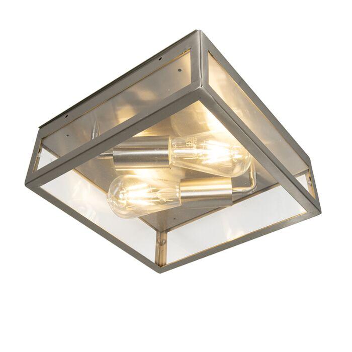 Plafón-cuadrado-acero-2-luces-IP23--ROTTERDAM