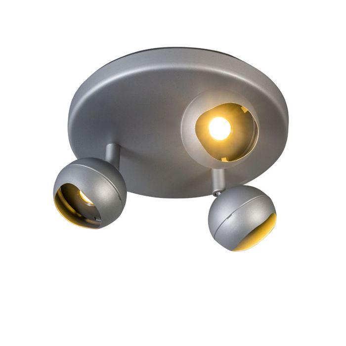 Plafón-GLOOB-3-LED-3000K-redondo-gris