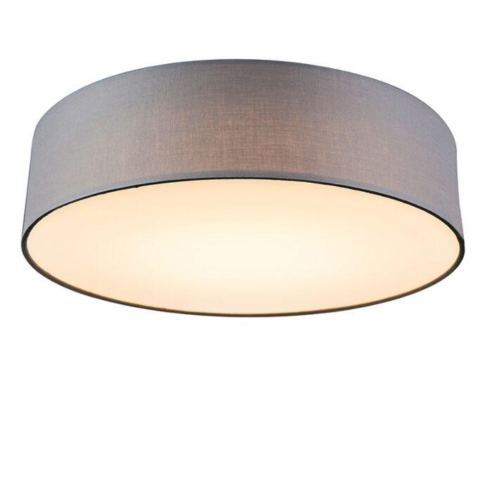 Lámpara-de-techo-gris-40cm-LED---DRUM-LED