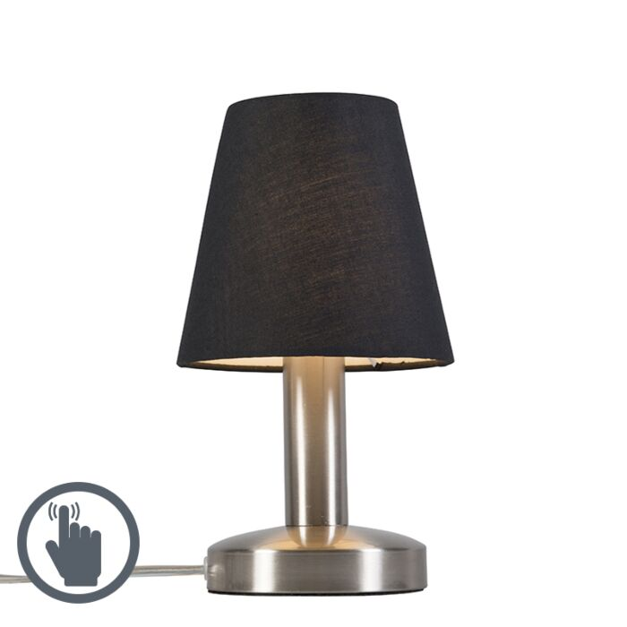 Lámpara-de-mesa-BELLO-táctil-negra