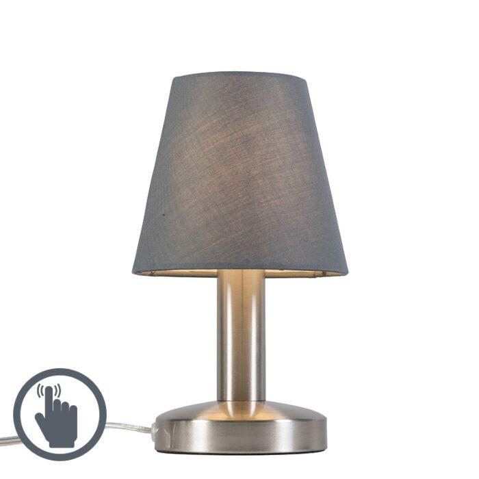 Lámpara-de-mesa-BELLO-táctil-gris