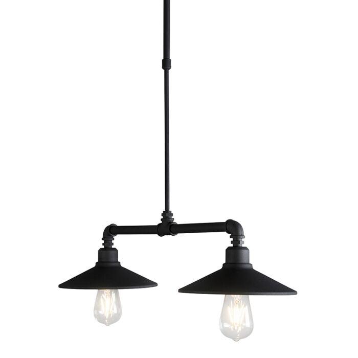 Lámpara-colgante-2-LASER-negra
