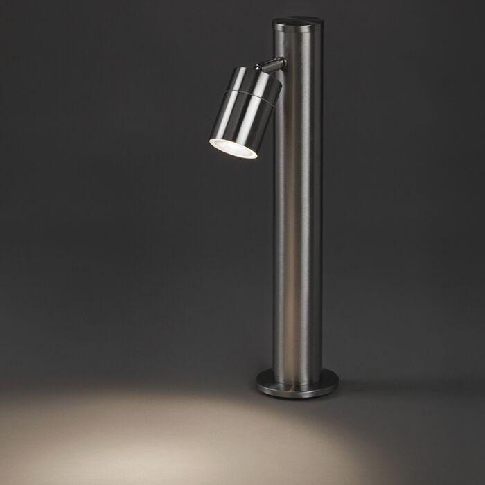 Baliza-moderna-acero-45cm-ajustable-IP44---SOLO