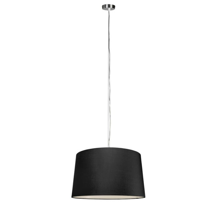 Lámpara-colgante-moderna-acero-pantalla-negra-45cm---CAPPO-1