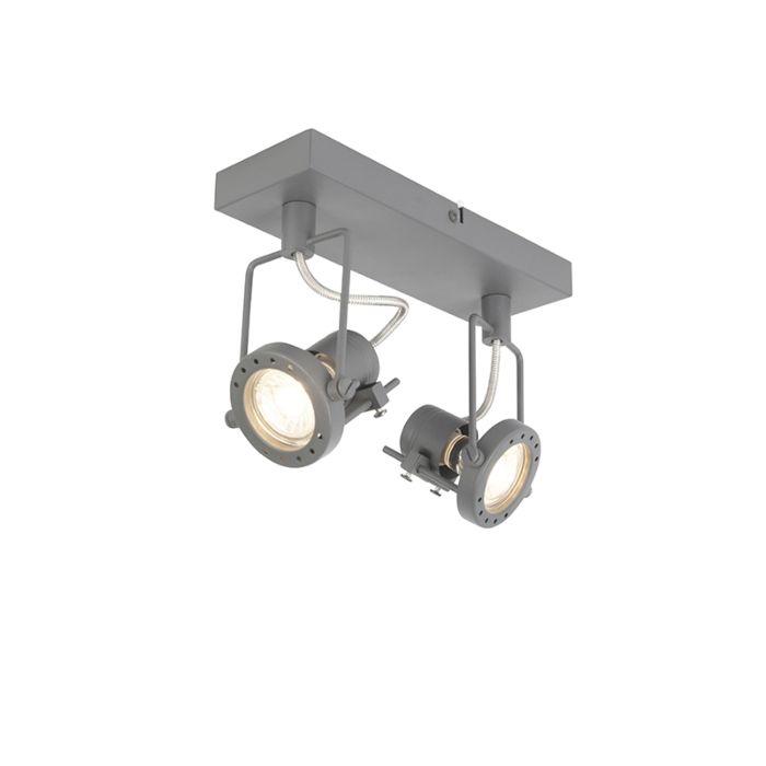 Plafón-industrial-antracita-giratorio-2-luces---SUPLUX