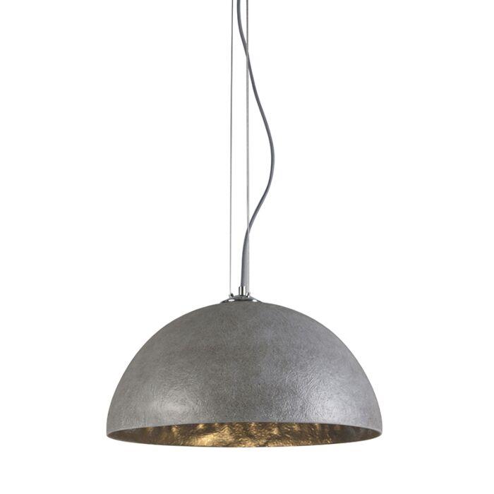 Lámpara-colgante-MAGNA-50-gris---plata
