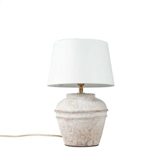 Lámpara-de-mesa-ARTA-XS-escocesa-con-pantalla-25cm-blanca