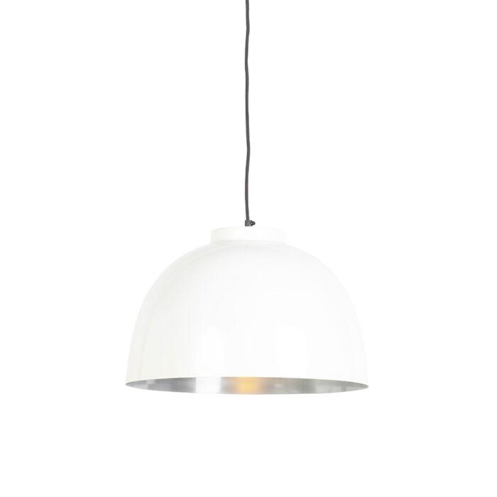 Lámpara-colgante-blanca/acero-40cm---HOODI