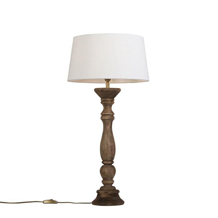 Lámpara-de-mesa-natural-con-pantalla-35-cm-blanca