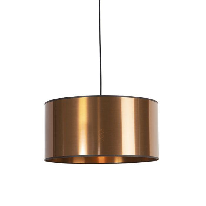 Lámpara-colgante-diseño-negra-pantalla-cobre-50cm---PENDEL