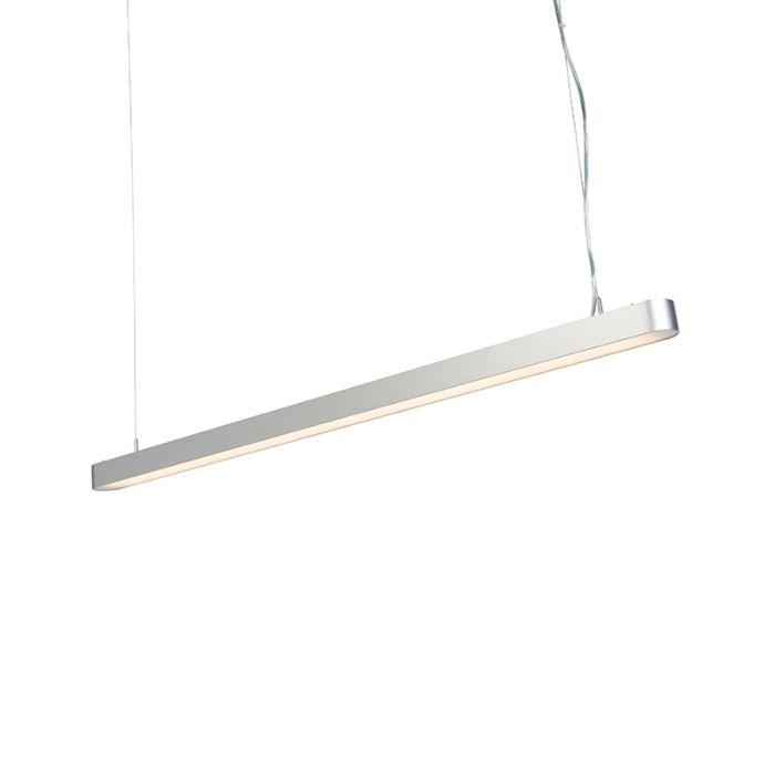 Lámpara-colgante-moderna-125cm-plateada-LED---DUCT-R
