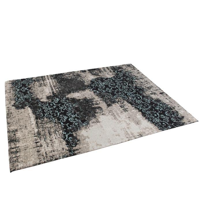 Alfombra-vintage-rectangular-160x230cm-turquesa/negro---PURI