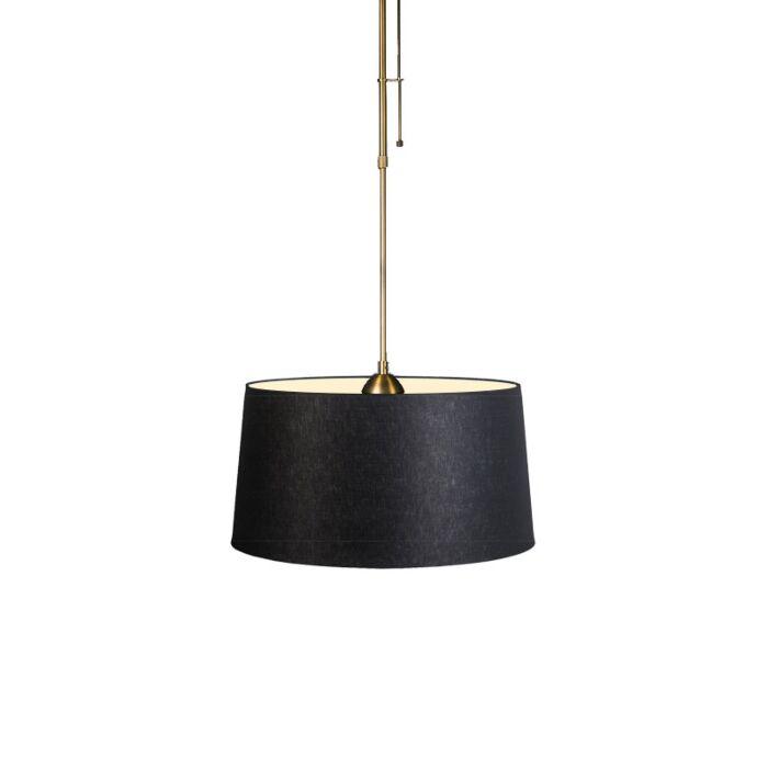 Lámpara-colgante-MIX-1-bronce-con-regulador-con-pantalla-45cm-negra