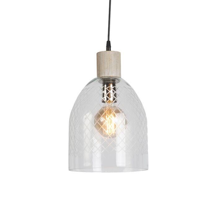Lámpara-colgante-AGHA-cristal-transparente