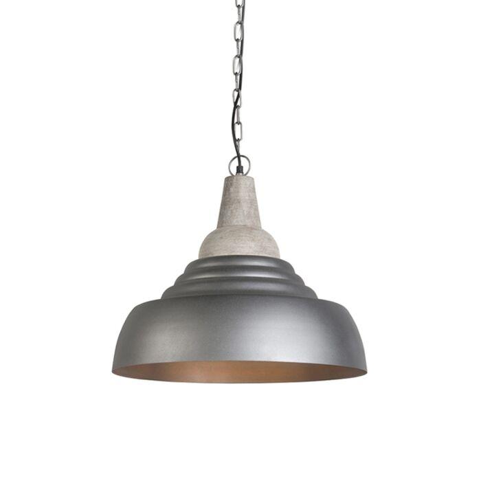 Lámpara-colgante-HARMAN-plateada