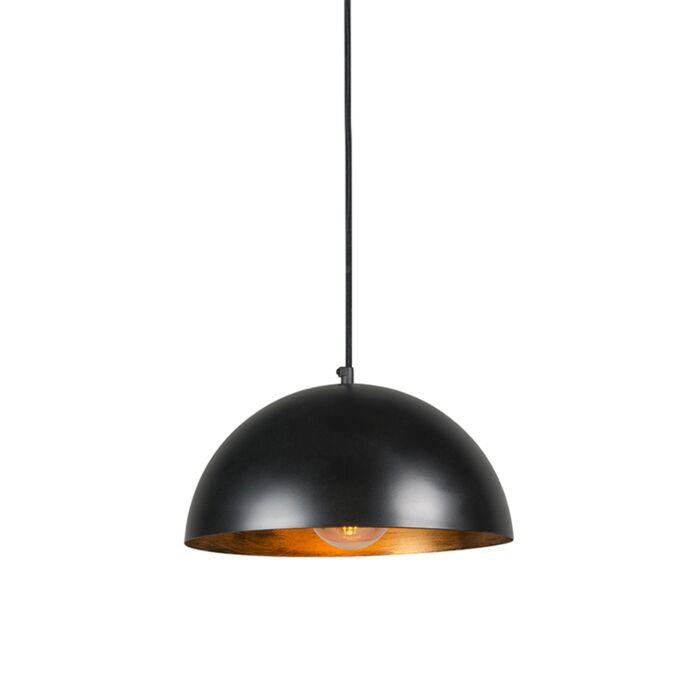 Lámpara-colgante-industrial-negra/oro-35cm---MAGNA-Eco