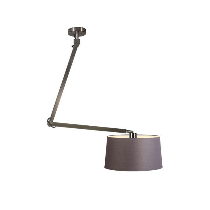 Lámpara-colgante-ACCIO-acero-con-pantalla-45cm-gris-marronáceo