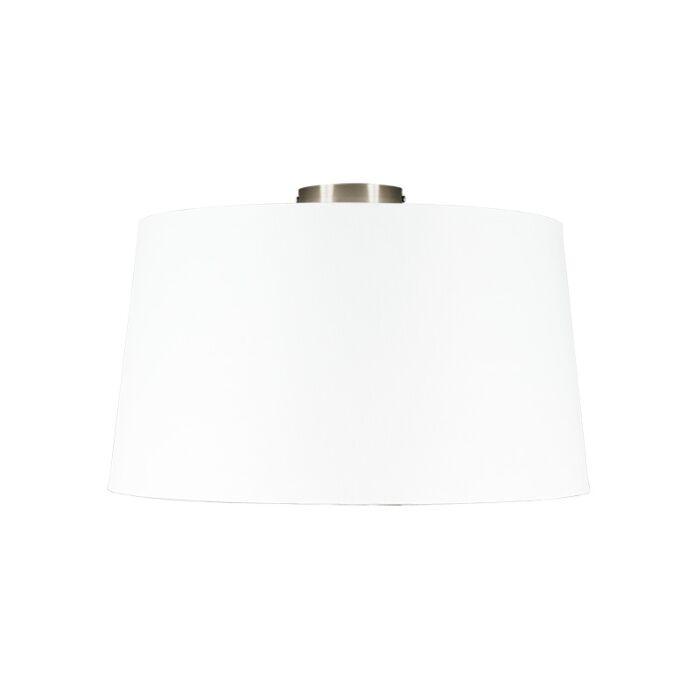 Plafón-moderno-acero-pantalla-blanca-45cm---COMBI