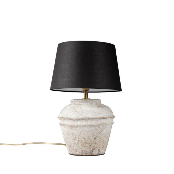 Lámpara-de-mesa-ARTA-XS-escocesa-con-pantalla-25cm-negra
