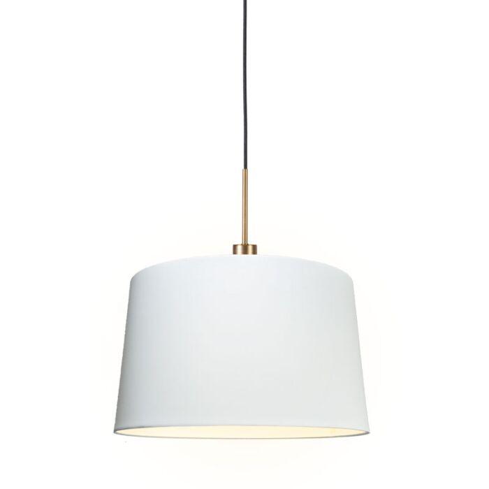 Lámpara-colgante-moderna-bronce-pantalla-45cm-blanca---COMBI-1