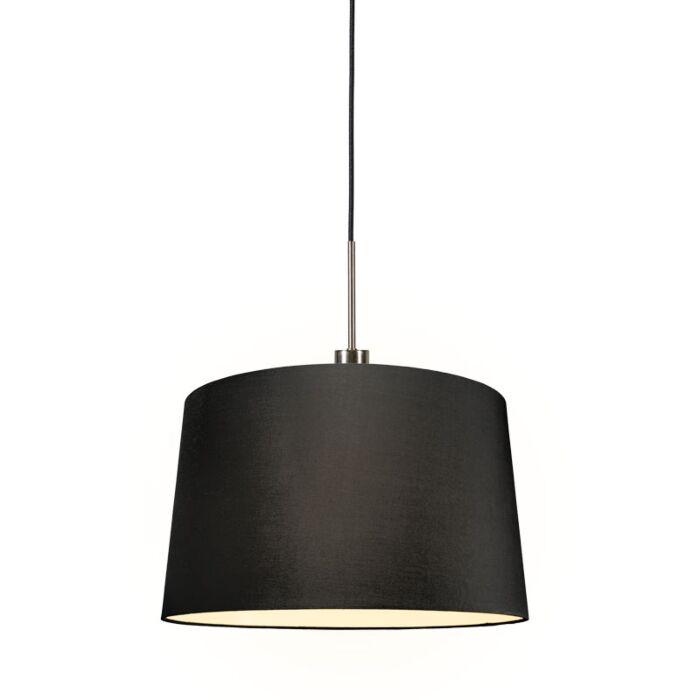 Lámpara-colgante-moderna-acero-pantalla-negra-45cm---COMBI-1