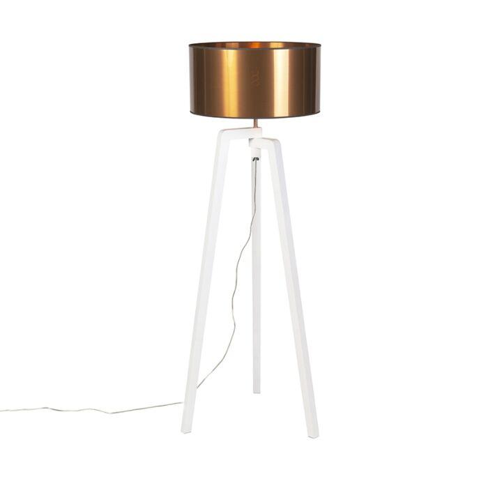 Trípode-diseño-blanco-pantalla-cobre-50cm---PUROS
