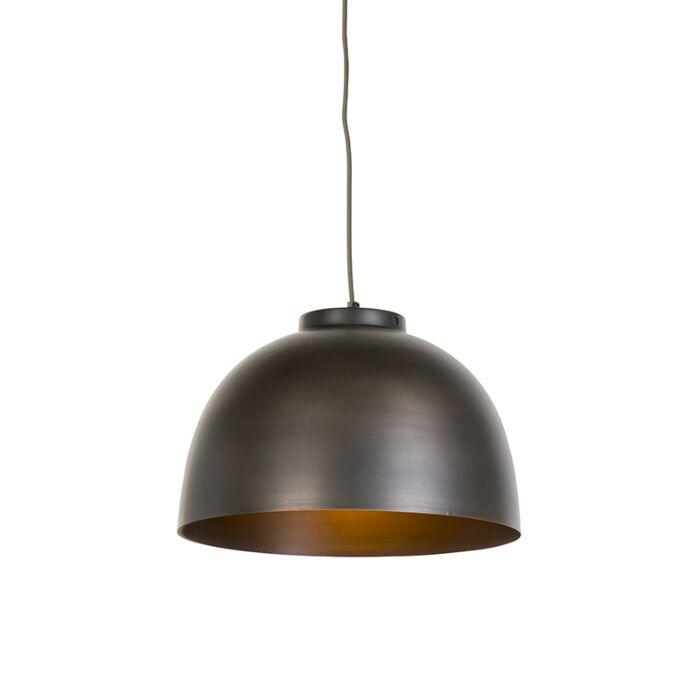Lámpara-colgante-industrial-marrón-40cm---HOODI